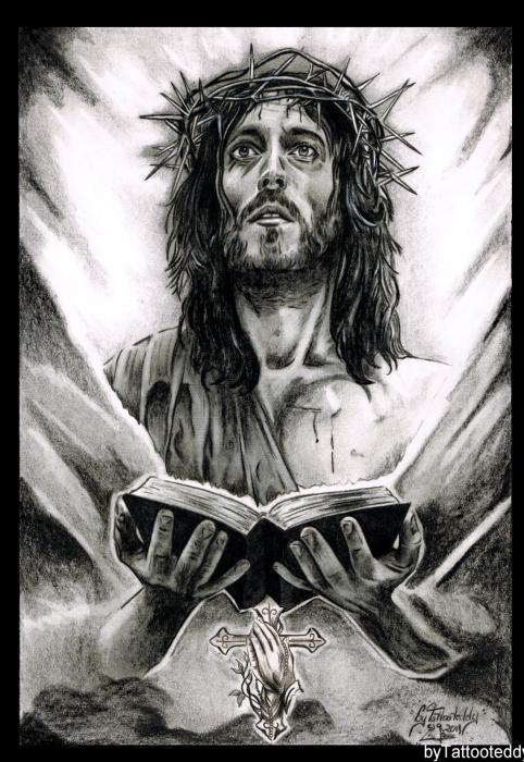 portrait of jesus christ by tattooteddy on stars portraits
